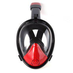 M2098G+180 Degree Panoramic View+Snorkel Mask+Black and Red -