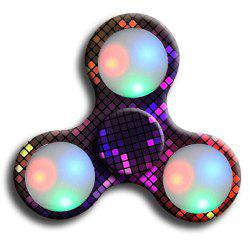 Fidgetec Premium Water Resistant Tri Fidget LED Hand Spinner With On/Off Switch and Mode Flashing LED Lights -