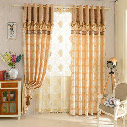 European Jacquard Blackout Curtains for Living Room Window Curtains for The Bedroom -