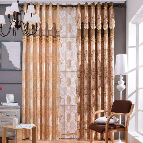 Chic European Embossed Jacquard Blackout Curtains for Living Room Window Curtains for The Bedroom Luxury