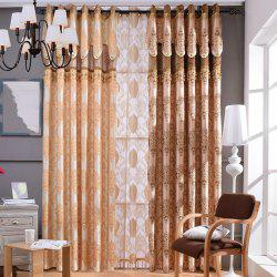 European Embossed Jacquard Blackout Curtains for Living Room Window Curtains for The Bedroom Luxury -