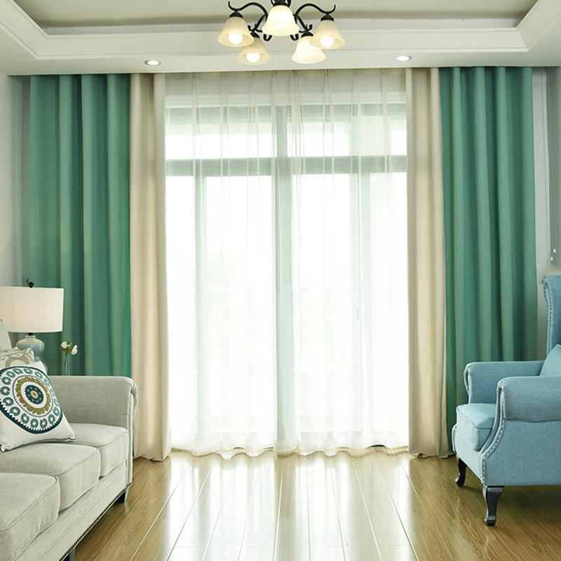 Outfit Modern Solid Color Cotton Linen Blackout Curtains for Living Room Window Curtains for The Bedroom Curtains