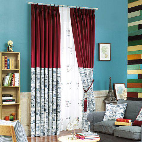 Shops Modern Cotton Printing Blackout Curtains for Living Room Window Curtains for The Bedroom Curtains
