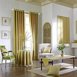 Yellow Rural Cotton Printing Blackout Curtains for Living Room Window Curtains for The Bedroom Curtains -