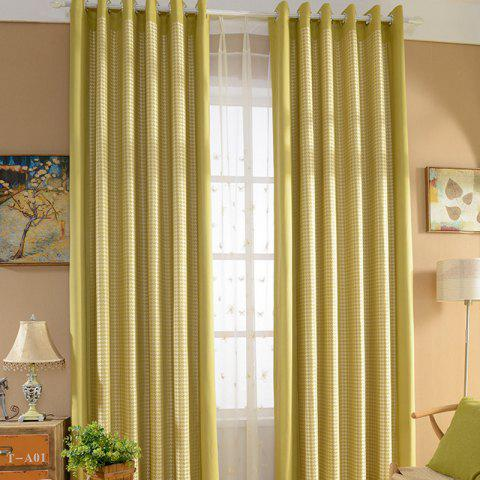 Store Yellow Rural Cotton Printing Blackout Curtains for Living Room Window Curtains for The Bedroom Curtains