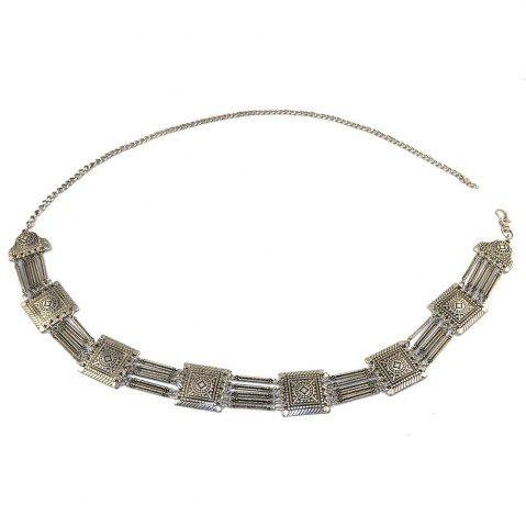 Fashion Tribal Bohemian Body Jewelry Silver Plated 5 Layers Pattern Vintage Flower Belly Dance Belt Chain Waist Jewelry