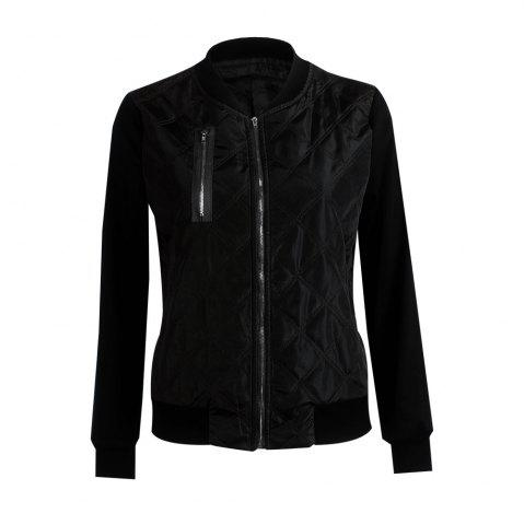 Unique Autumn Winter Fashion Zipper Quilted Individuality Small Coat Jacket