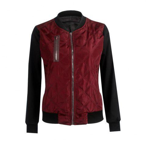 Cheap Autumn Winter Fashion Zipper Quilted Individuality Small Coat Jacket