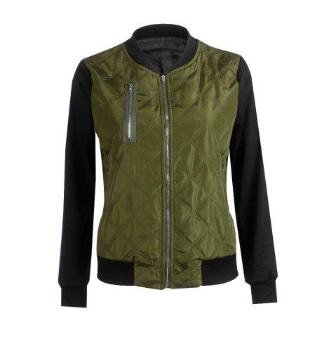 Chic Autumn Winter Fashion Zipper Quilted Individuality Small Coat Jacket