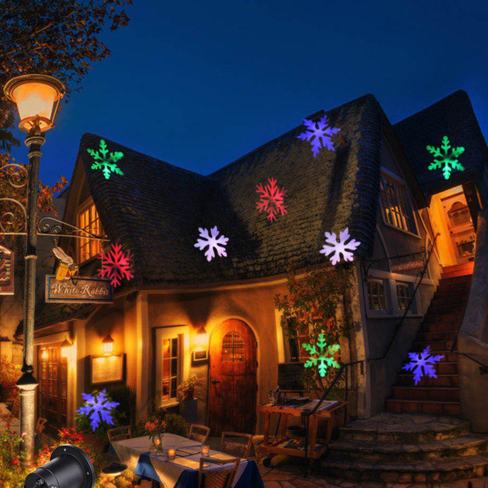 Latest Christmas Light Projector Colorful Moving Snowflakes Waterproof LED Landscape Projector Light for Indoor Outdoor-EU PLUG