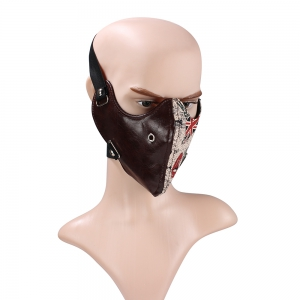 Hot Selling Leather Punk Anti Dust and Dustproof Locomotive Face Mask -