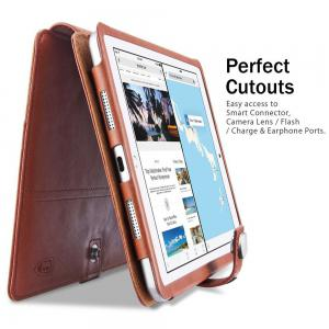 Benuo for iPad Pro 10.5 Case All in 1 Classic Leather Case w/ Card Slots/Pencil Holder and Hand Strap Folio Flip Case / Secure Closure Multi Stands -