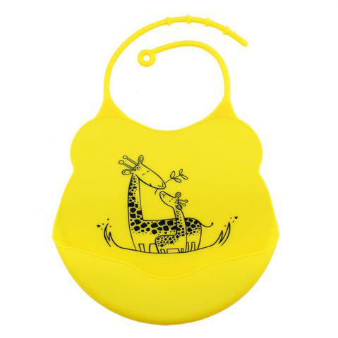 Fancy Waterproof Food Grade Silicone Baby Toddler Bib Comfortable Easy Cleaning Feeding Bibv