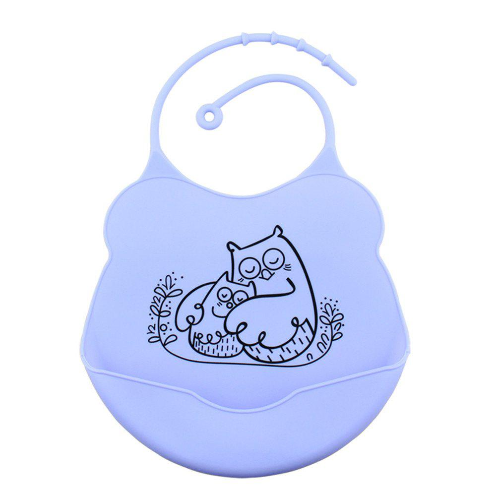 Fashion Waterproof Food Grade Silicone Baby Toddler Bib Comfortable Easy Cleaning Feeding Bibv