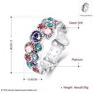 Rose Gold White Gold Plated Party Wedding Gift Anniversary Engagement Fashion Ring -