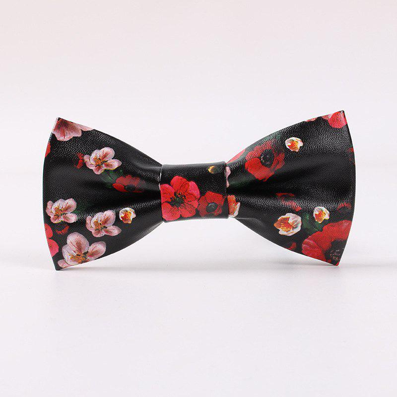 Latest PU Skin Printed Man Bowknot