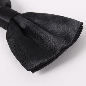 Polyester Silk Solid Color Bow Tie -