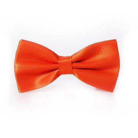 Fancy Polyester Silk Solid Color Bow Tie