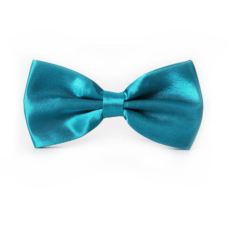 Latest Polyester Silk Solid Color Bow Tie