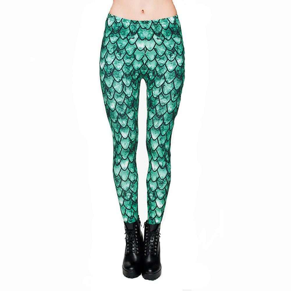 Best High Quality Fashion Fish Scale Printing Pants Ladies Fitness Leggings Yoga Pants