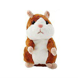 Mimicry Talking Hamster Repeats What You Say The Cute Plush Animal Toy Electronic Hamster Mouse -