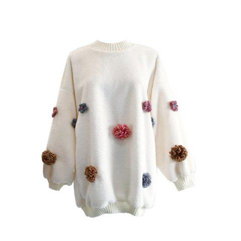 Shop Sweet and Lovely Loose Round Collar Sweater