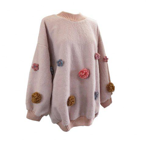 New Sweet and Lovely Loose Round Collar Sweater
