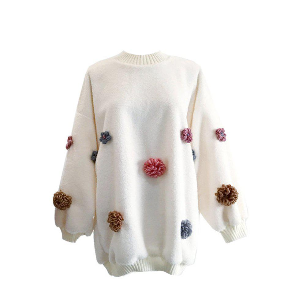 Sweet and Lovely Loose Round Collar Sweater