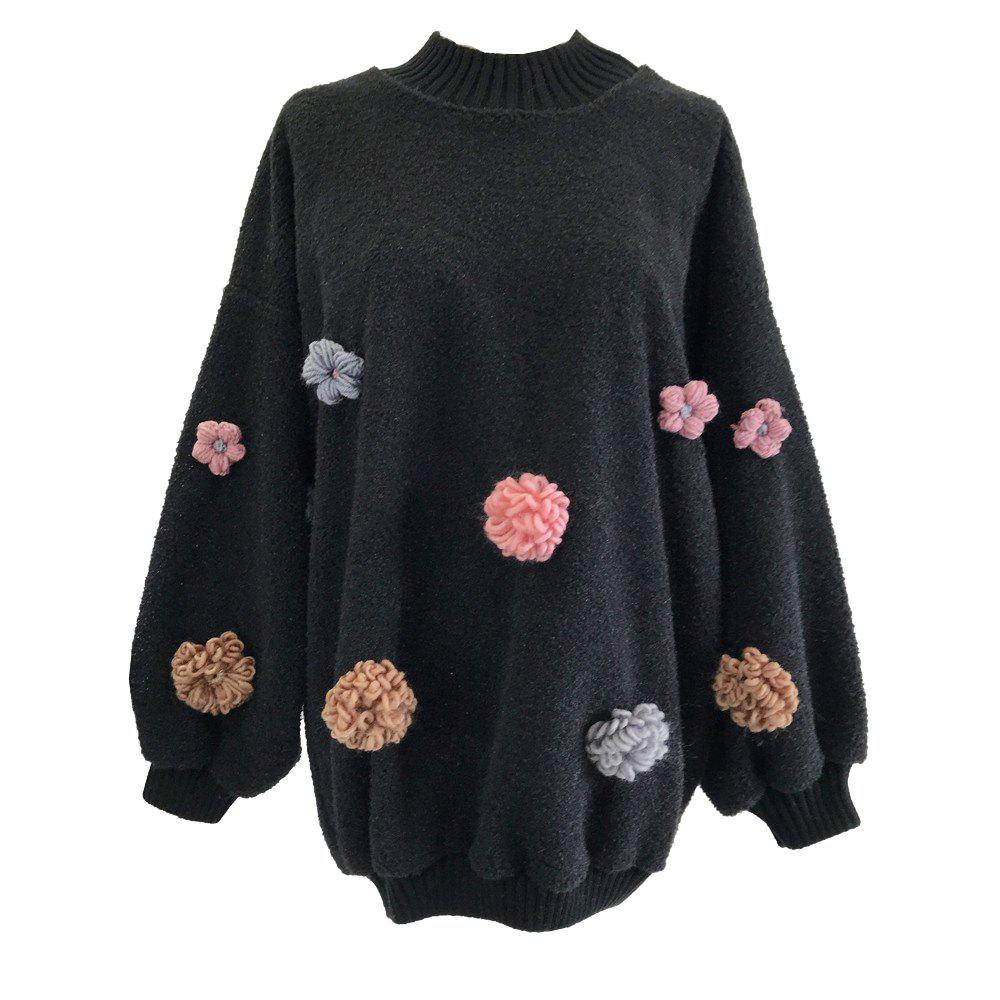 Shops Sweet and Lovely Loose Round Collar Sweater