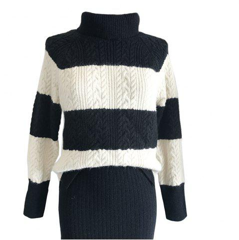 Affordable Retro Harajuku Wide Stripe Turtleneck Sweater