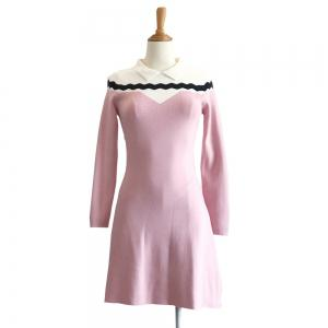 Loveliness Temperament Sweet Wave Long Sleeve Knit Dress -