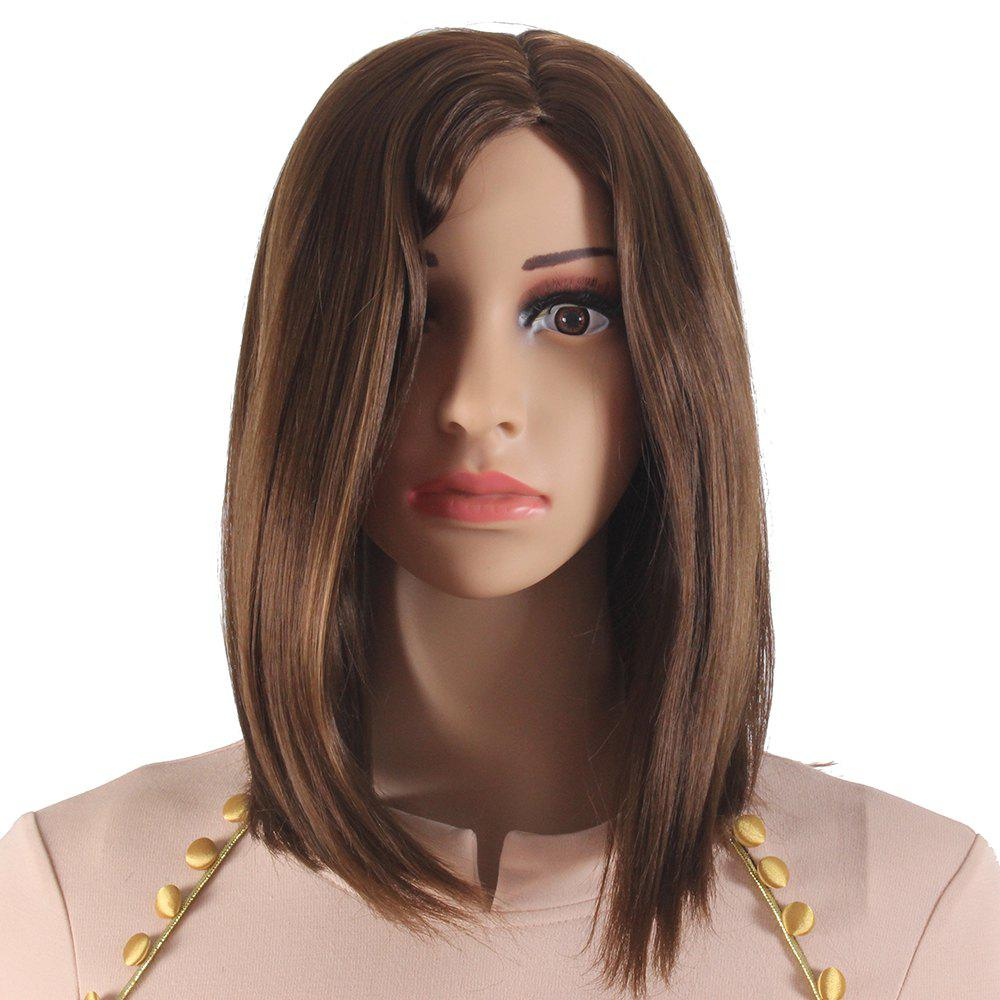 8171128cb Sale Light Brown Medium Length Bob Style Synthetic Hair Wigs for Women  SW0010C-O
