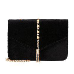 Fashion Personality Velvet Small Bag Purse Chain Tassel Shoulder Messenger Bag -