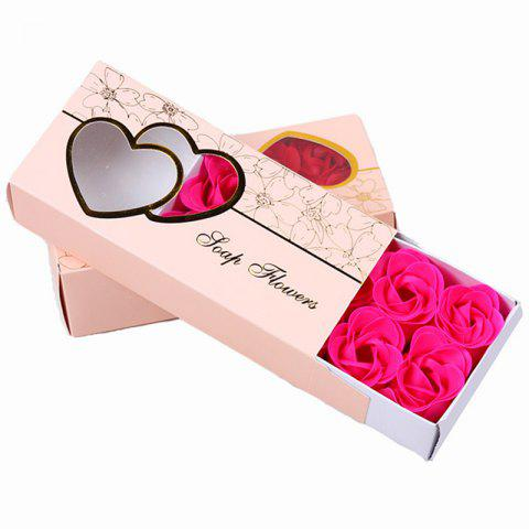 Hot 10 Pcs Soap Flowers Sweet Romantic Artificial Roses Box Packing Valentine's Day Gift
