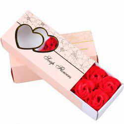 10 Pcs Soap Flowers Sweet Romantic Artificial Roses Box Packing Valentine's Day Gift -