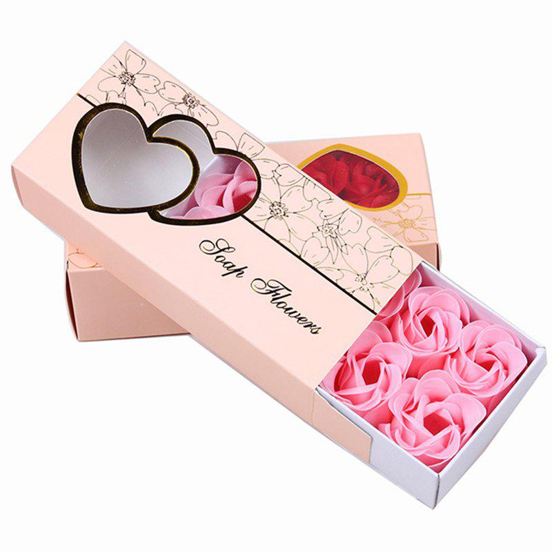 Affordable 10 Pcs Soap Flowers Sweet Romantic Artificial Roses Box Packing Valentine's Day Gift