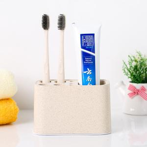 1Pc Storage Box Multi Function Solid Colour Useful Toothbrush Desktop Container -
