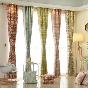 Modern Cotton Printing Blackout Window Curtains for Living Room Bedroom 5 Color -