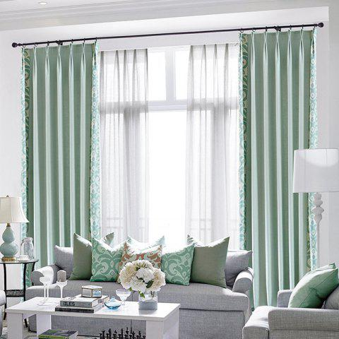 Trendy Modern Cotton Printing Blackout Window Curtains for Living Room Bedroom 5 Color