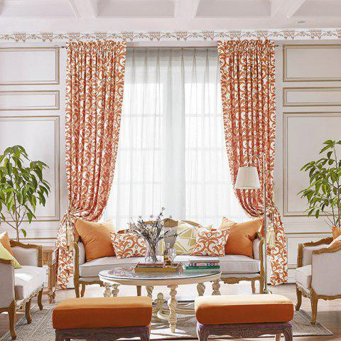 Fashion Modern Cotton Printing Blackout Window Curtains for Living Room Bedroom 5 Color