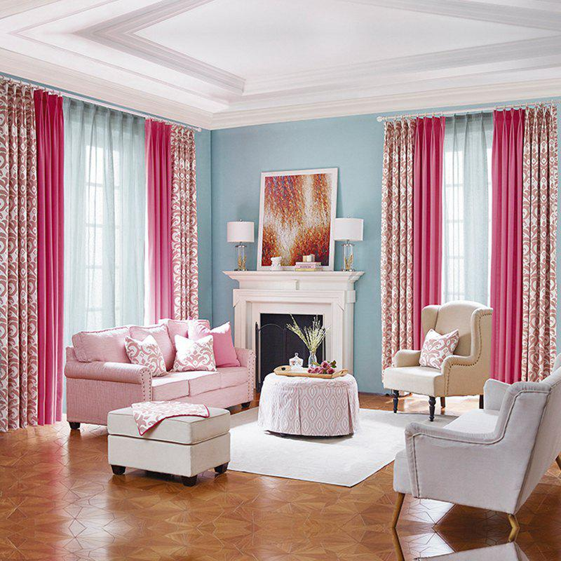 Outfit Modern Cotton Printing Blackout Window Curtains for Living Room Bedroom 5 Color