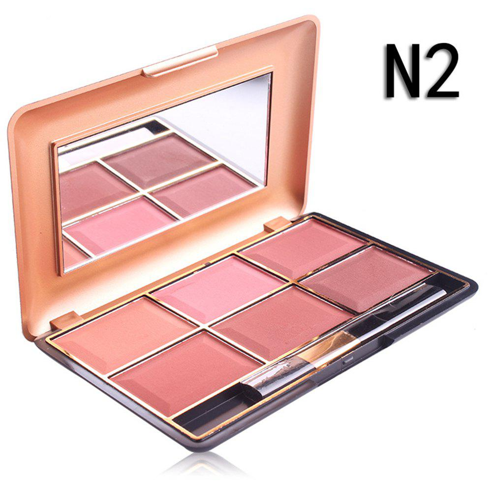 Professional Makeup Blusher Long Lasting 6 Color Minerals Powder Retro Face Base Blush Bronzers Contouring 249756903