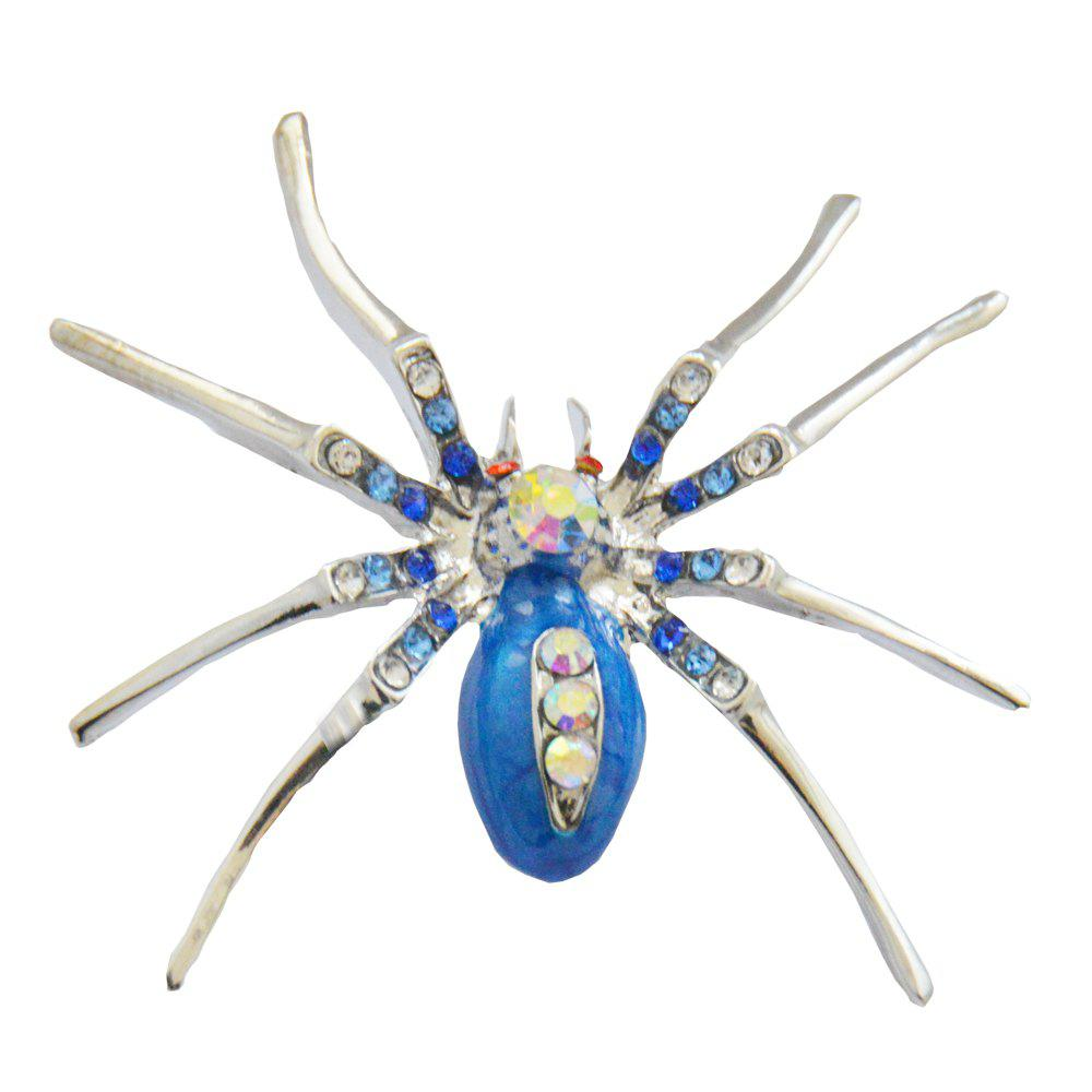 High Quality Glass Crystal Spider Brooch Pins in Red Purple Blue Colors 250429504