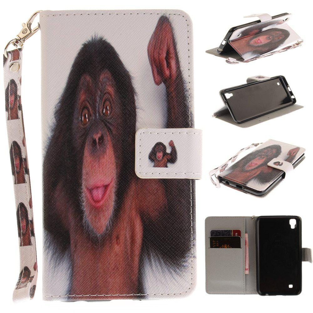 Outfit Cover Case for LG Xpower Monkey PU+TPU Leather with Stand and Card Slots Magnetic Closure