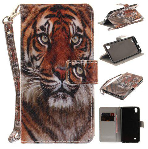 Outfit Cover Case for LG Xpower Manchurian Tiger PU+TPU Leather with Stand and Card Slots Magnetic Closure
