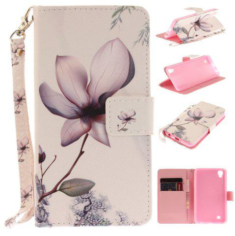 Store Cover Case for LG Xpower Magnolia PU+TPU Leather with Stand and Card Slots Magnetic Closure