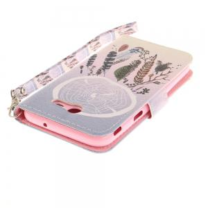 Cover Case for Samsung Galaxy J3 2017 Color Bells PU+TPU Leather with Stand and Card Slots Magnetic Closure -