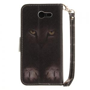 Cover Case for Samsung Galaxy J3 2017 Mystery Cat PU+TPU Leather with Stand and Card Slots Magnetic Closure -