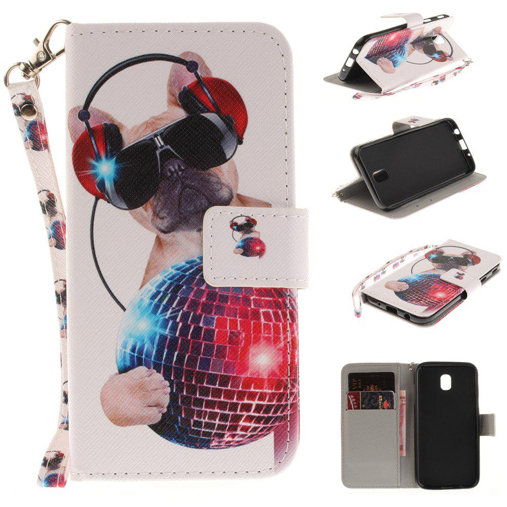 Shop Cover Case for Samsung Galaxy J5 2017 J530 Fashion Dog PU+TPU Leather with Stand and Card Slots Magnetic Closure