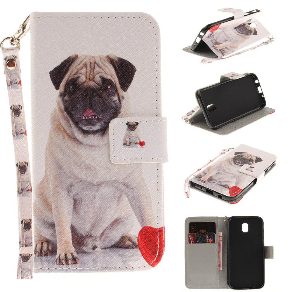 Fancy Cover Case for Samsung Galaxy J5 2017 J530 Pug PU+TPU Leather with Stand and Card Slots Magnetic Closure
